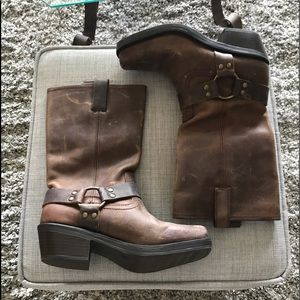 Mossimo Leather Harness Boots